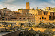 Trajan forum and market panorama in Rome