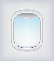 Window Airplane Vector