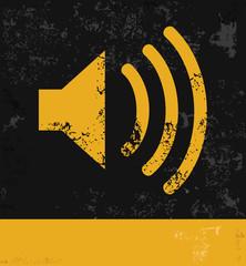 Sound symbol,grunge vector