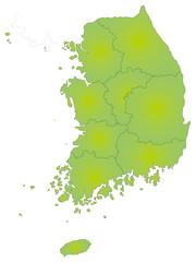 大韓民国の地図