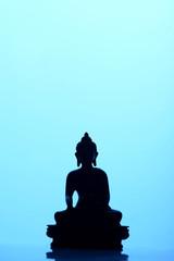 Buddha Silhouette Blue