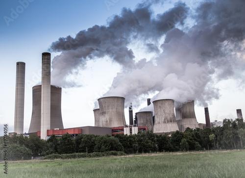 canvas print picture CO2 und Energie