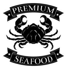 Premium sea food label