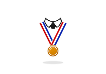 champion winner medal people logo