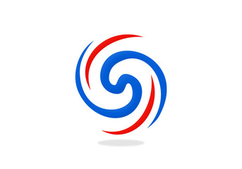 circular abstract swirl vector logo
