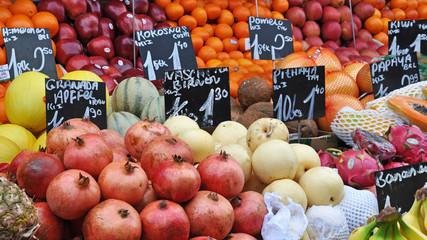 frisches obst am markt