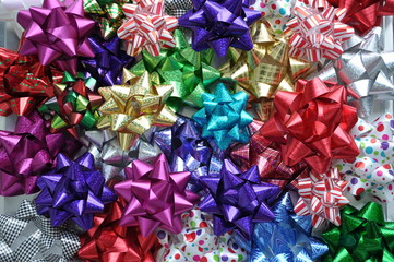 Colorful bows background