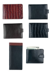 Texture of men's wallet