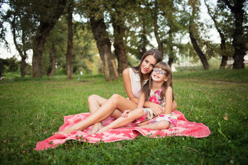 Sisters enjoy beautiful day