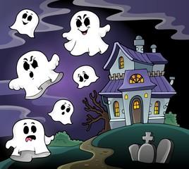 Haunted house theme image 4