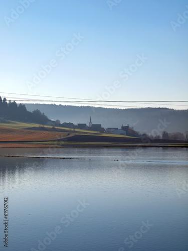 canvas print picture Überschwemmte Felder