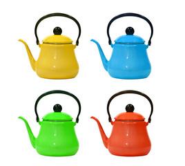 colorful tea kettle