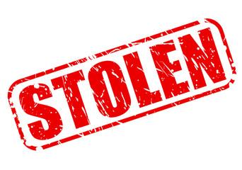 Stolen red stamp text