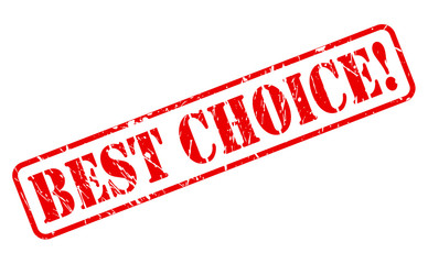 Best choice red stamp text