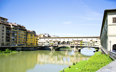 Old bridge over the River Arno, Florence - Tuscany