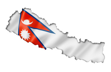 Nepalese flag map