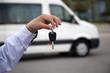 Leinwanddruck Bild - Minibus Key