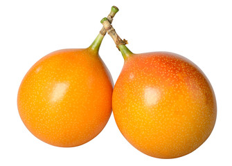Tropical fruit isolated against white.