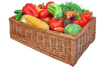 Fresh Vegetables Mix in the Basket
