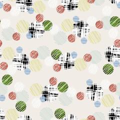 seamless  polka dots, retro style