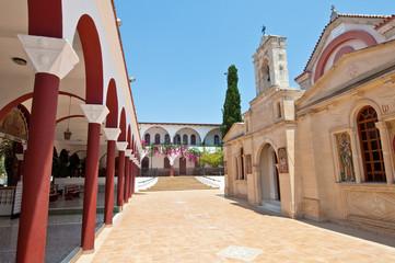 Monastery of Panagia Kalyviani near Kalyvia. Crete, Greece.