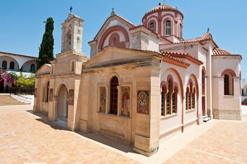 Monastery of Panagia Kalyviani next to Mires and Kalyvia. Crete.