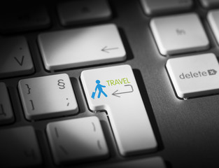 Travel Key On Computer Keyboard