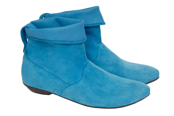 turquoise chamois boots