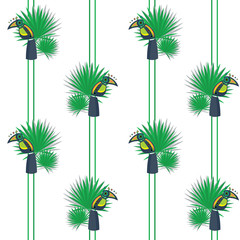 cheerful birds Toucan