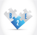 b2e puzzle pieces illustration design poster