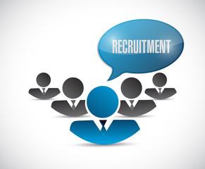 recruitment team illustration design