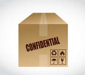 confidential box illustration design