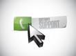 customer support sign illustration design