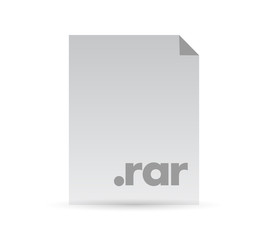 rar document file illustration design