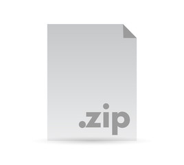 zip document file illustration design