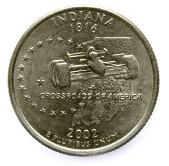 Indianapolis Indy Quarter dollar Индианаполис אינדיאנפוליס