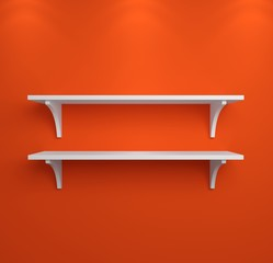 Simple shelves on a wall.