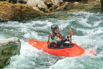 Kayaking auf wildem Fluss