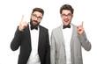 canvas print picture - Männer im Anzug