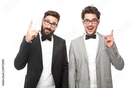 canvas print picture Männer im Anzug