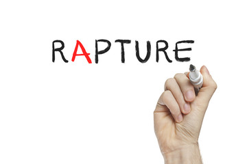 Hand writing rapture