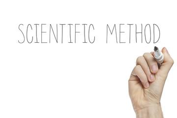Hand writing scientific method