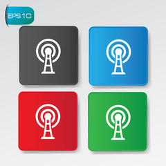 Wireless on buttons,vector