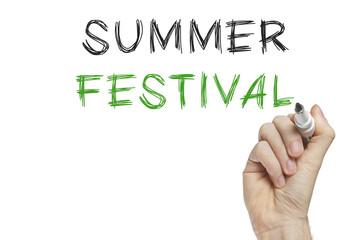 Hand writing summer festival