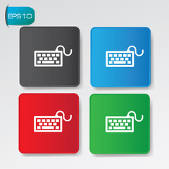 Keyboard on buttons,vector