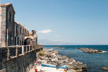 Small vilalge Torre Archirafi Sicily