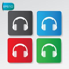 Earphone buttons,vector