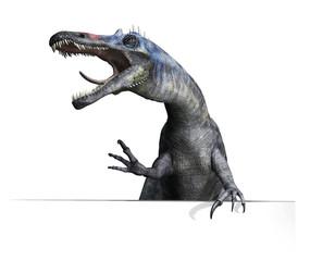 Suchomimus Dinosaur on Edge or Border