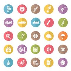 Car Service icon set,color vector