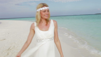 Bride At Beautiful Beach Wedding